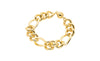 Figaro Link Bracelet - Gold & Honey