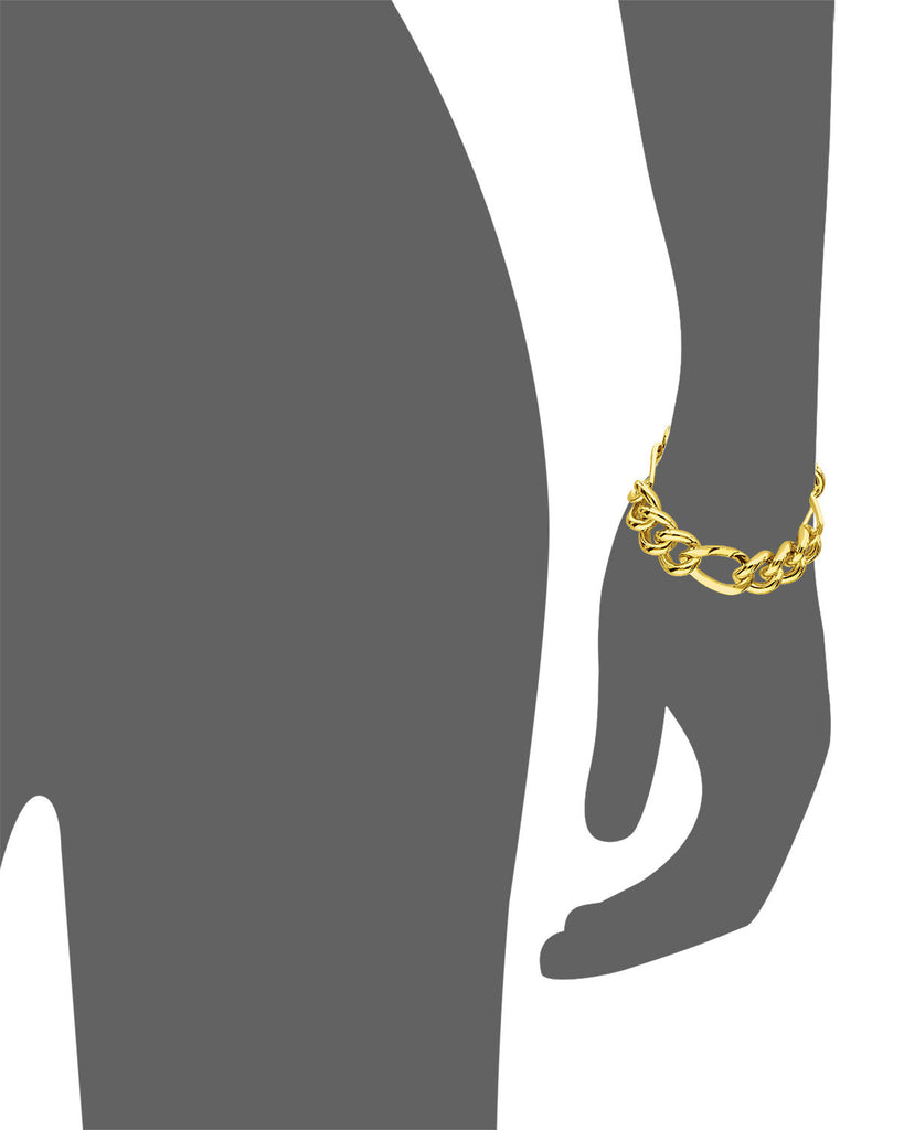Figaro Link Bracelet - Gold & Honey - Vector