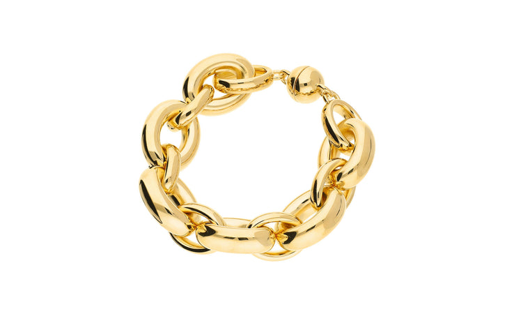 Large Link Bracelet - Gold & Honey