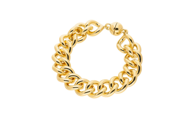 Curb Link Bracelet - Gold & Honey