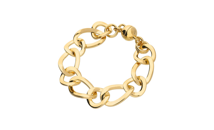 Modern Link Bracelet - Gold & Honey