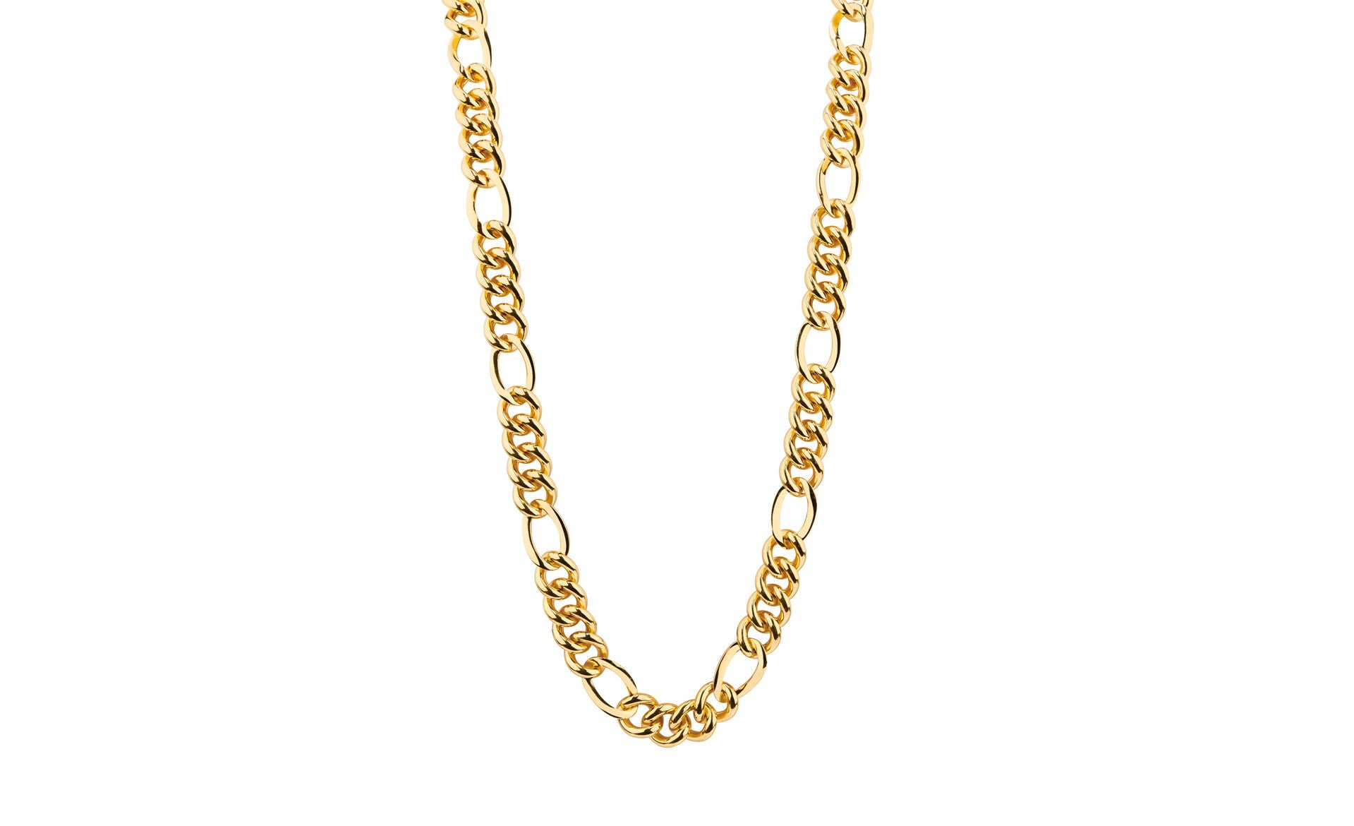 Figaro Link Necklace - Gold & Honey