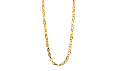 Medium Cable Link Necklace - Gold & Honey