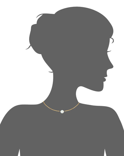 Solitaire Opal Choker Necklace Vector