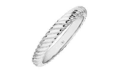 Scalloped Bangle Silver