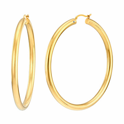 Extra Large Classic Hoop Earrings - GOLD