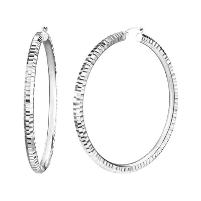 Extra Large Hammered Hoop Earrings