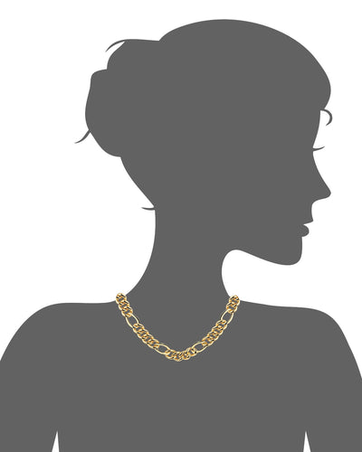 14K Figaro Link Necklace 18""