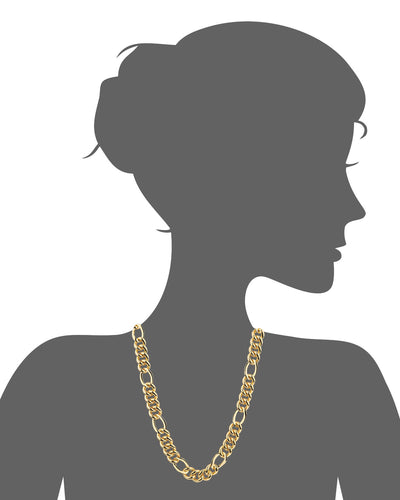 14K Figaro Link Necklace 24""