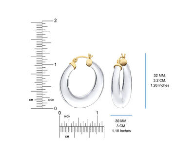 Clear Lucite Hoops DIMENSIONS