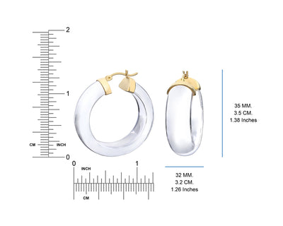 Clear Lucite Wide Hoops DIMENSIONS