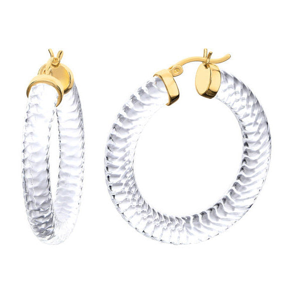 Clear Lucite Cable Hoops