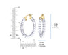 Clear Lucite Oval Cable Hoops DIMENSIONS