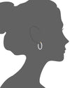 Clear Lucite Thin Oval Hoops VECTOR