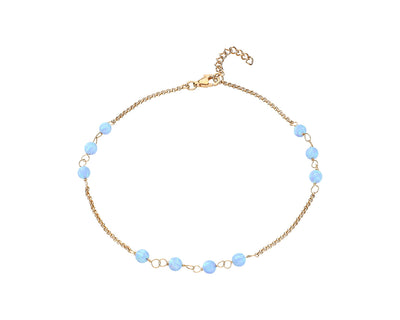 Multi Station Blue Opal Anklet