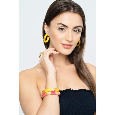 PINK AND YELLOW BANGLES