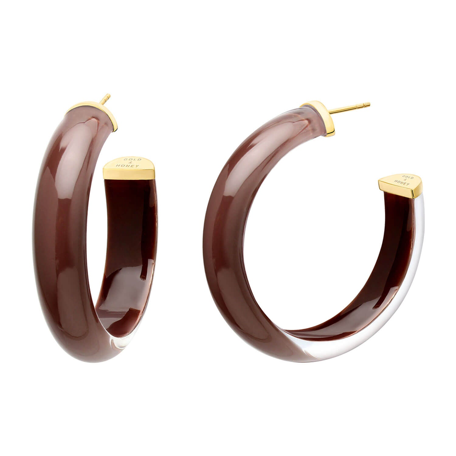 Medium Illusion Nude Lucite Hoops <br> (More Colors Available)