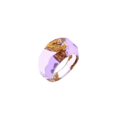 PURPLE FACTED RING