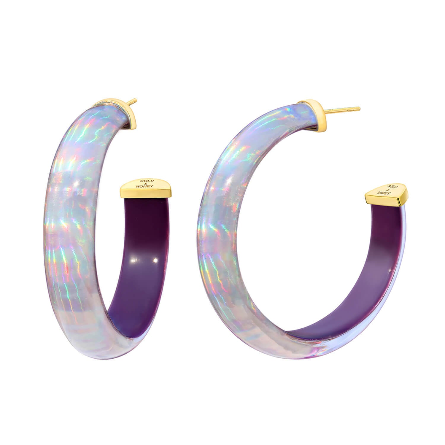 Rave Lucite Hoops in Purple