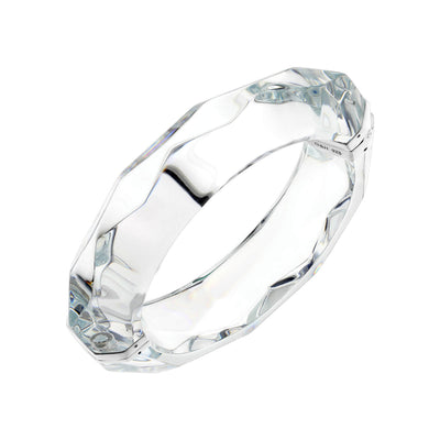 Clear Faceted Bangle