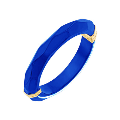 Thin Faceted Lucite Bangle ROYAL BLUE