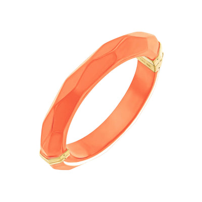 Thin Faceted Lucite Bangle LIVING CORAL