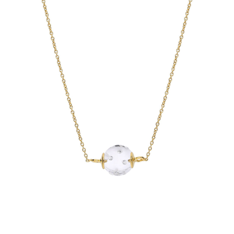Dainty Disco Ball Lucite Necklace