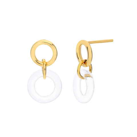 Dainty Interlocked Lucite Earrings