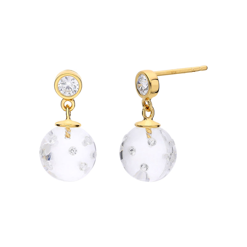 Dainty Disco Ball Lucite Earrings