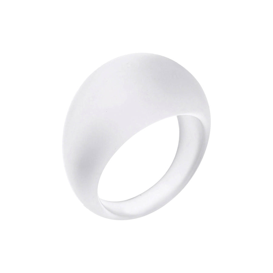 Frosted Lucite Dome Ring