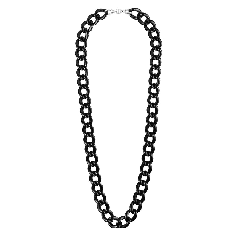 Extra Long XL Curb Link Lucite Necklace clear