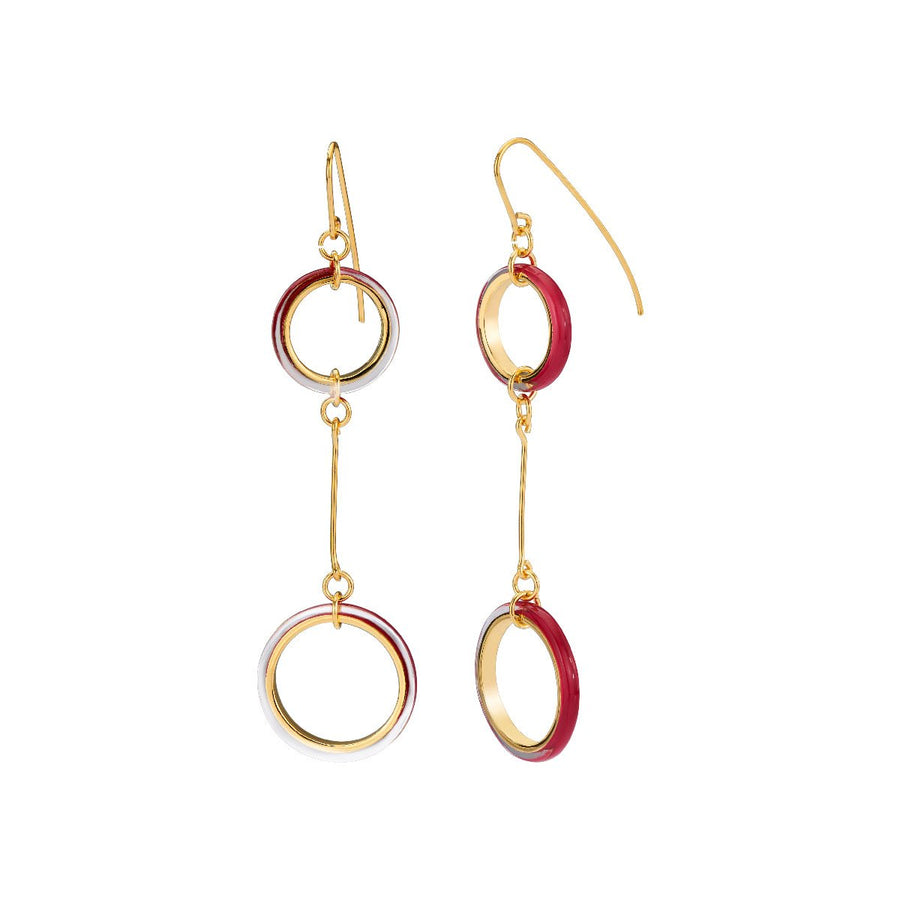 Thin Double Wired Drop Lucite Earrings