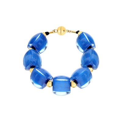 Beaded Lucite Bracelet BLUE