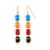 4 Drop Mini Bead Lucite Earrings MULTI