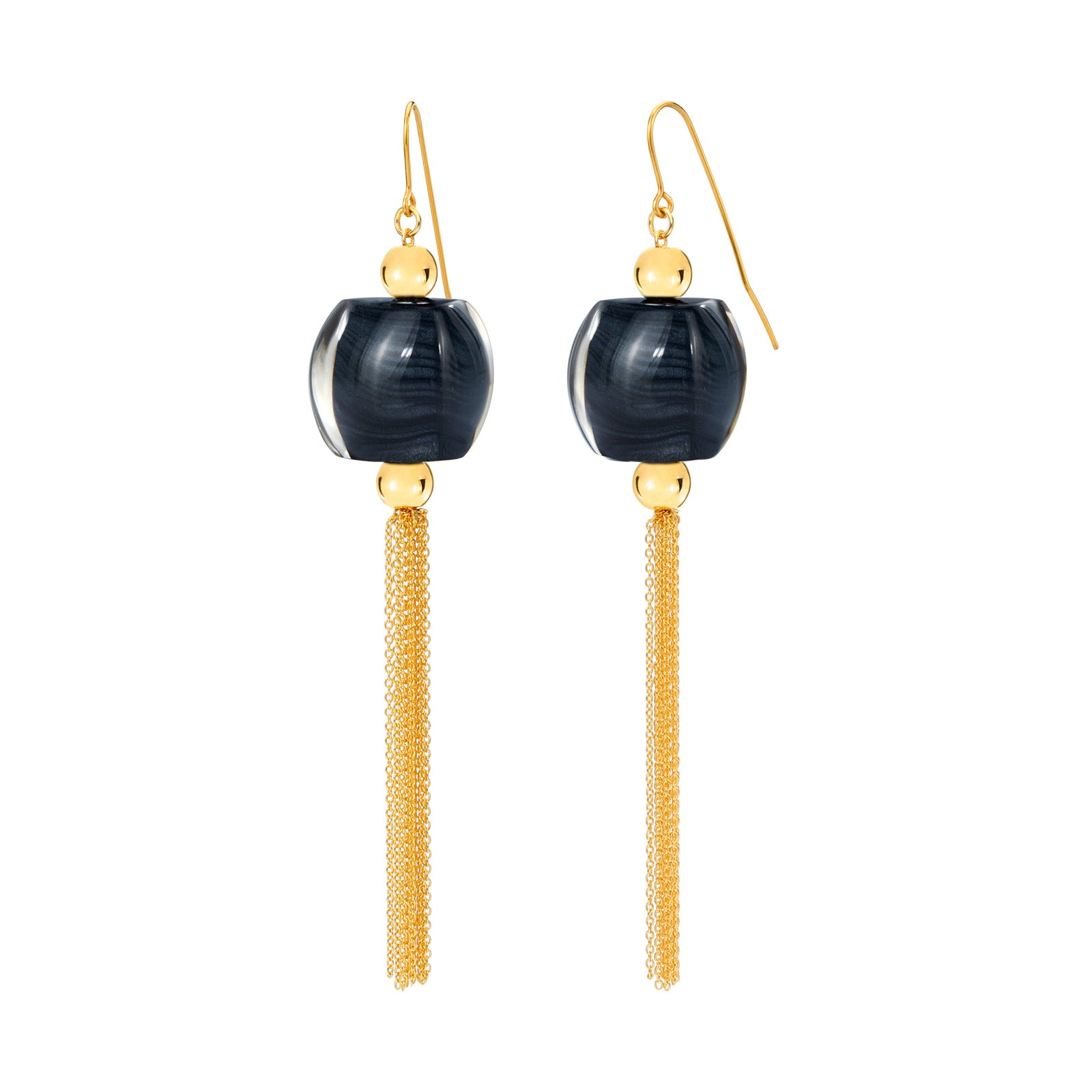 Tassel Lucite Earrings BLACK