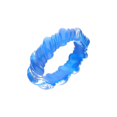 Sculpted Twisted Lucite Bracelet - BLUE