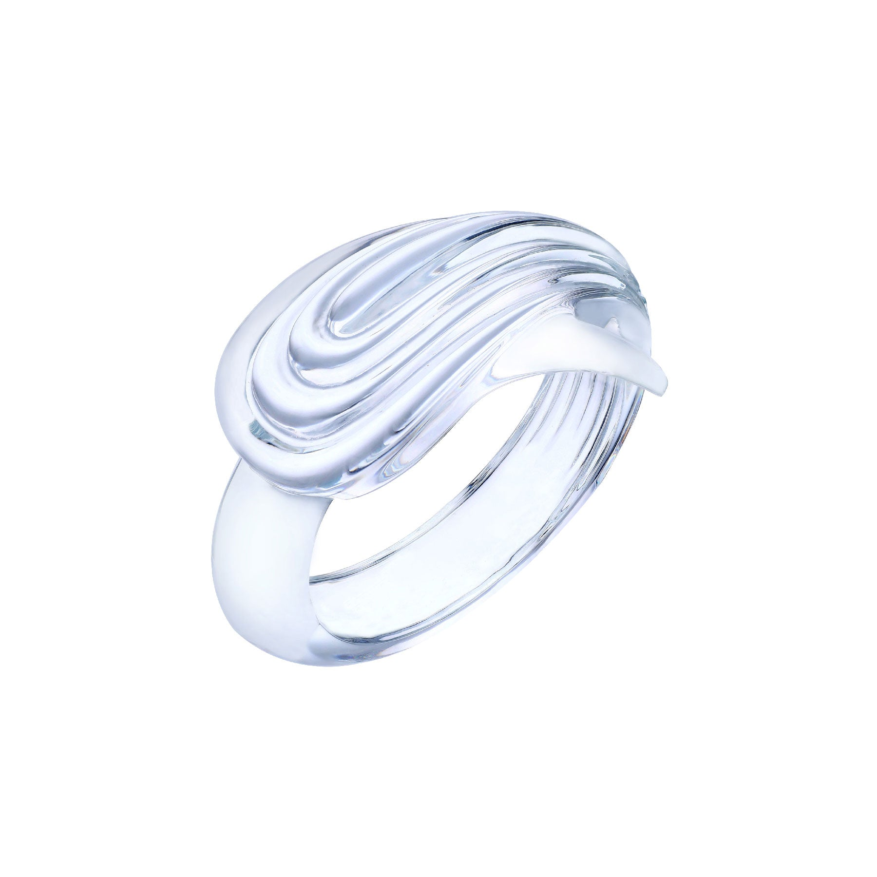 Sculpted Rippled Lucite Bracelet