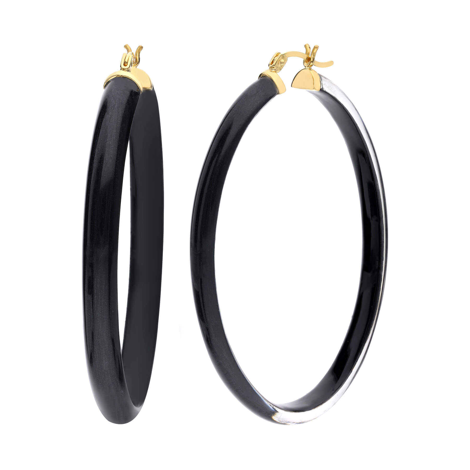 Thin XL Illusion Oval Lucite Hoops