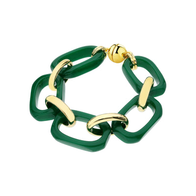 Rectangle Lucite Bracelet GREEN