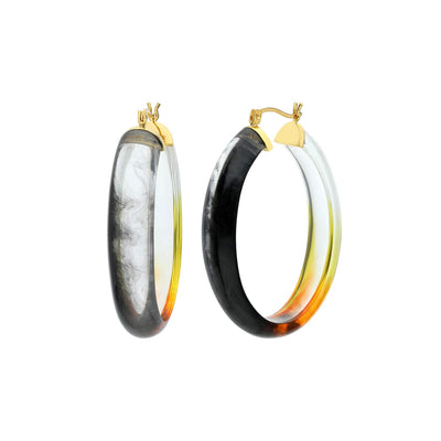 Ombré Oval Lucite Earrings BLACK