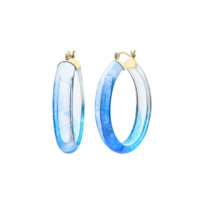 Ombré Oval Lucite Earrings BLUE