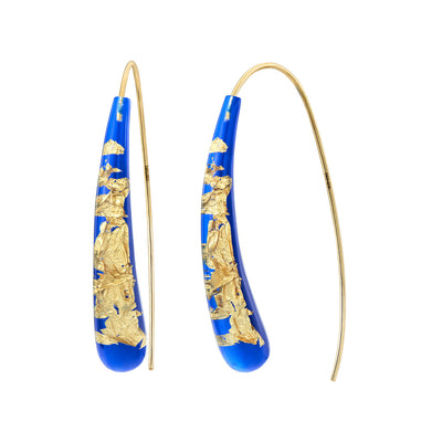 Wishbone Earrings - ROYAL BLUE