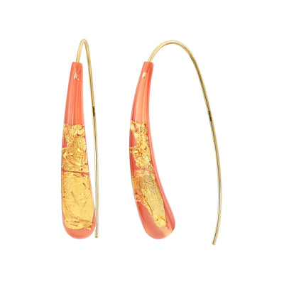 Wishbone Earrings - LIVING CORAL