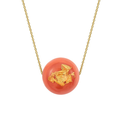 XL Bead Necklace - LIVING CORAL