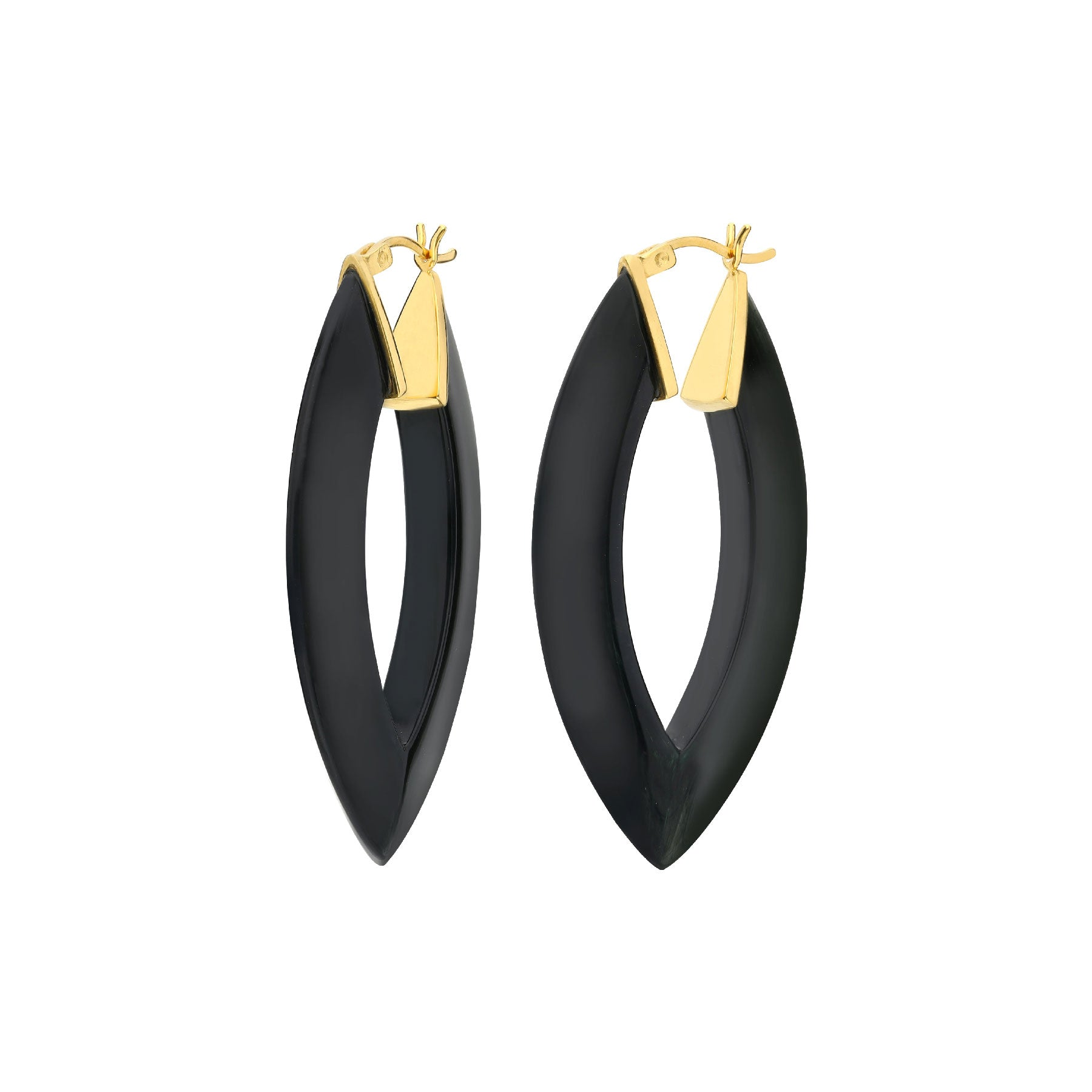 Marquise Lucite Hoops <br> (More Colors Available)
