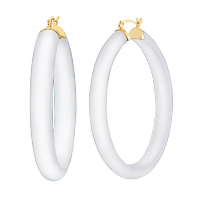 XL Oval Lucite Hoops frosted