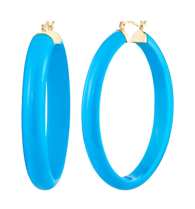 XL Oval Lucite Hoops TQ