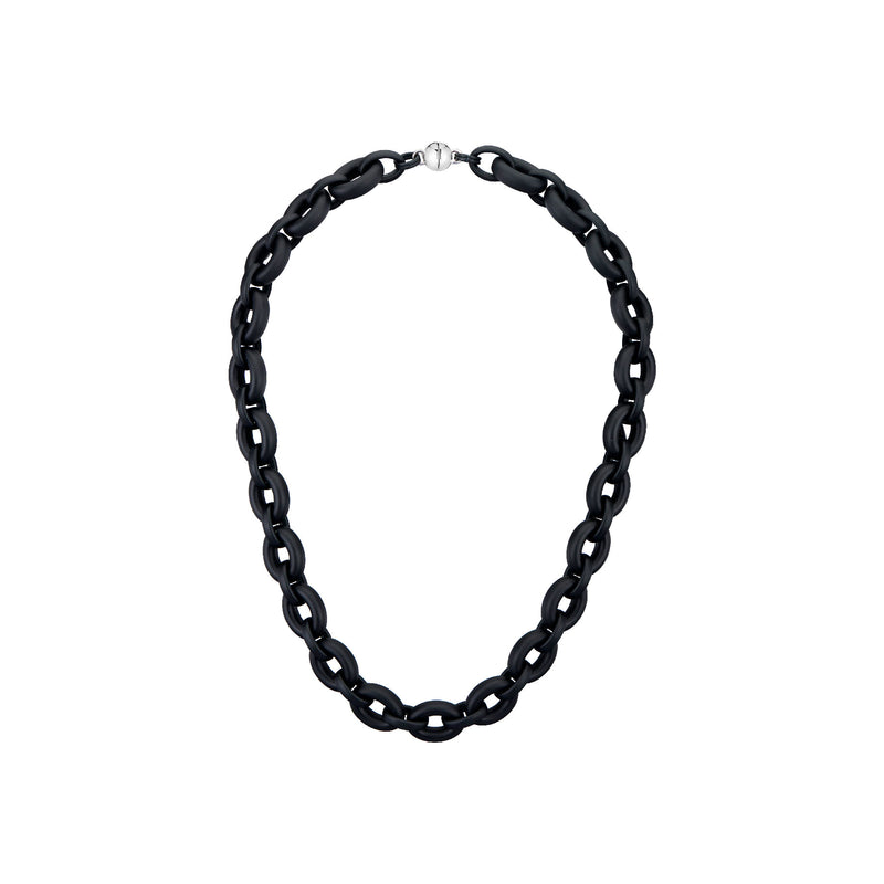 Black Large Link Lucite Necklace