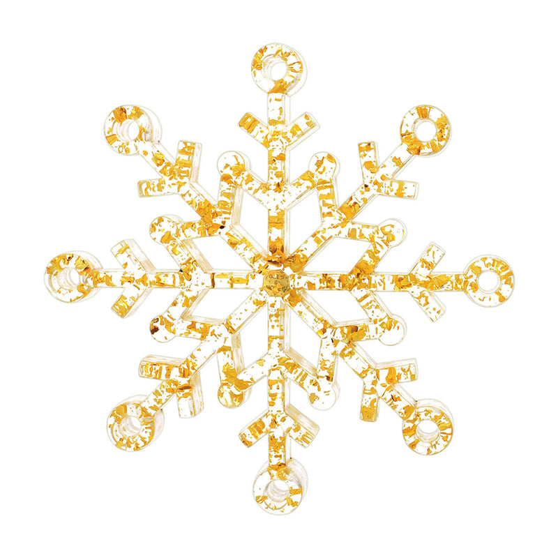 Snowflake Ornament with 24K Gold Flakes
