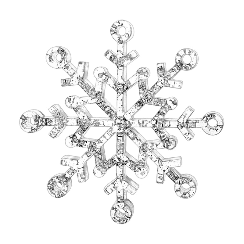 Snowflake Ornament with Silver Flakes